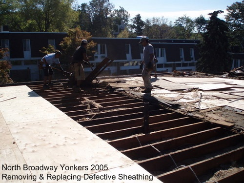 Yonkers 2005 Removing and Replacing Defective Sheathing